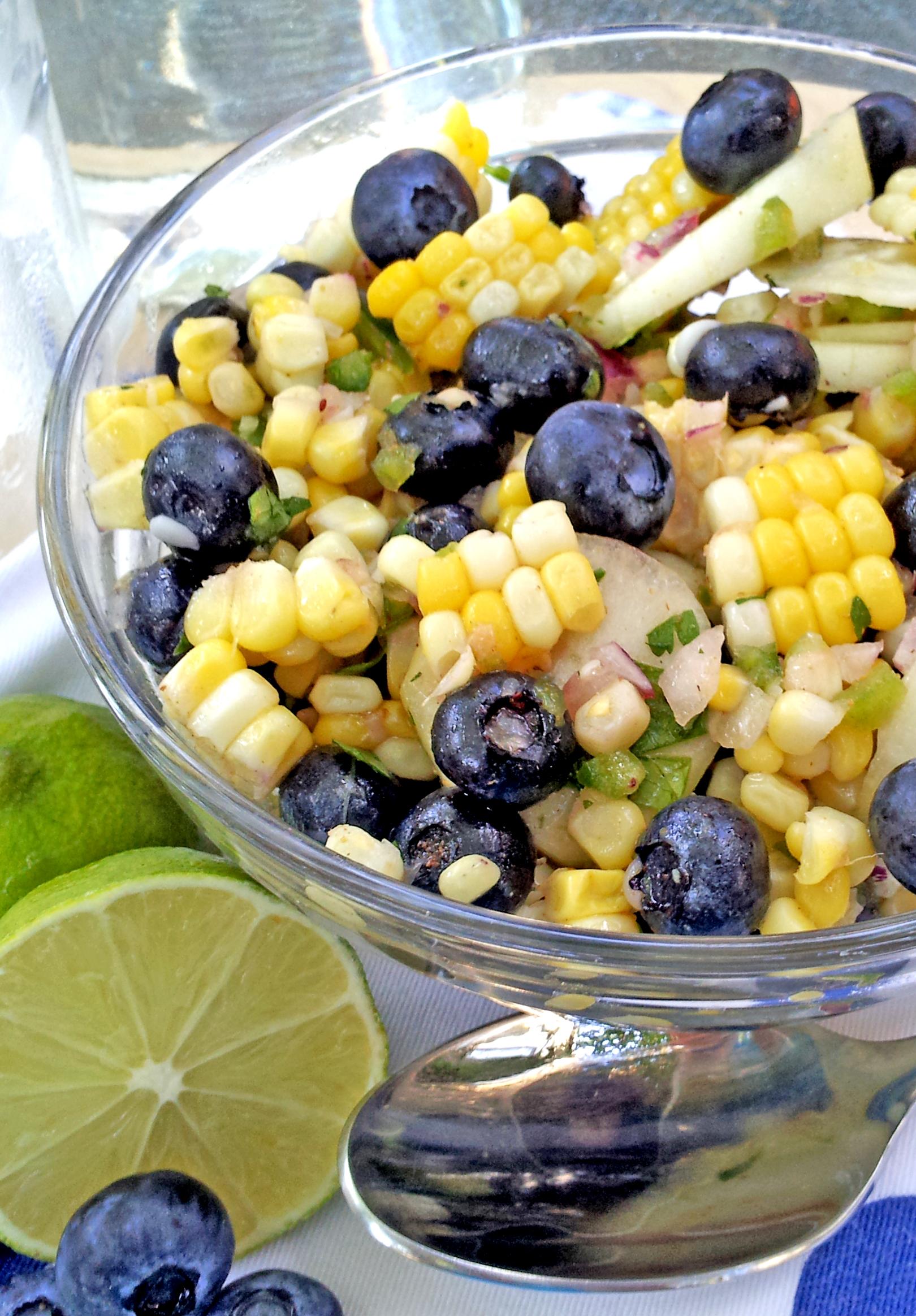 Blueberry Corn Salad Recipe — Dishmaps