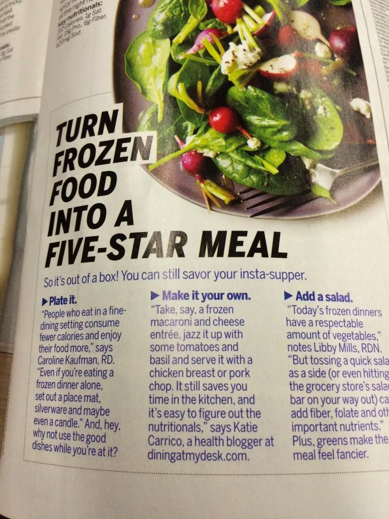 Dining at my Desk Health Magazine November
