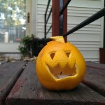 Orange Jack-O-Lanterns: